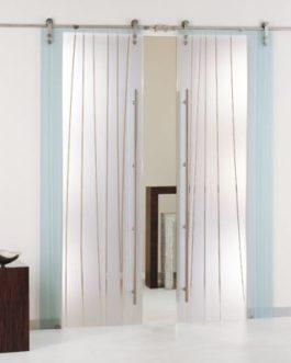 Puerta Corredera Cristal Decorado