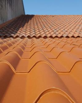 Terraza fija de panel teja